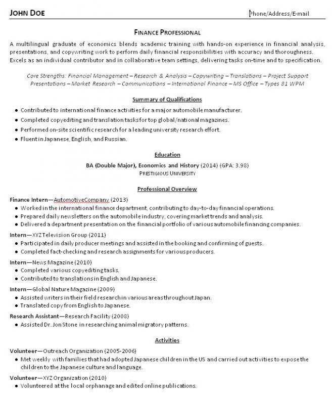 8 Resumes For Recent College Grads Resume good resume for recent ...