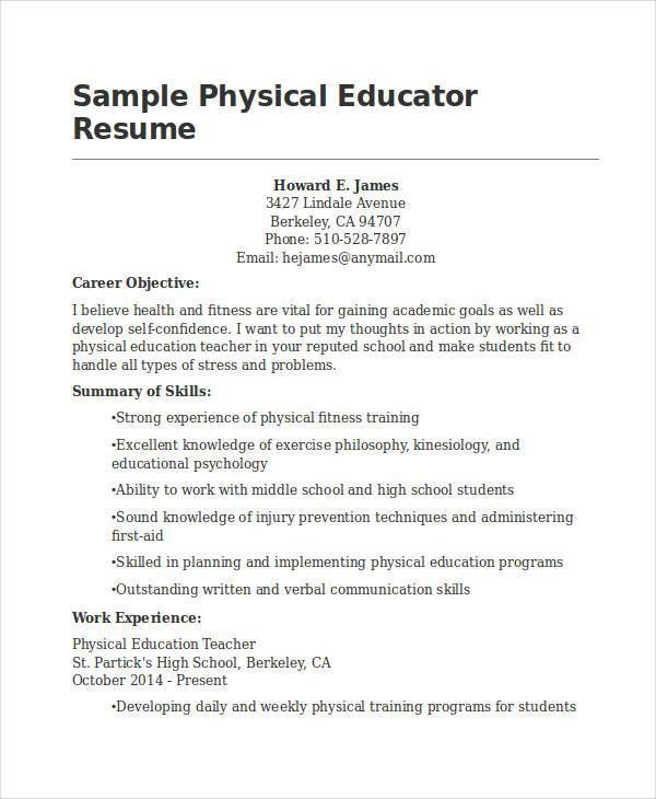 Best Education Resume Templates - 21+ Free Word, PDF Documents ...