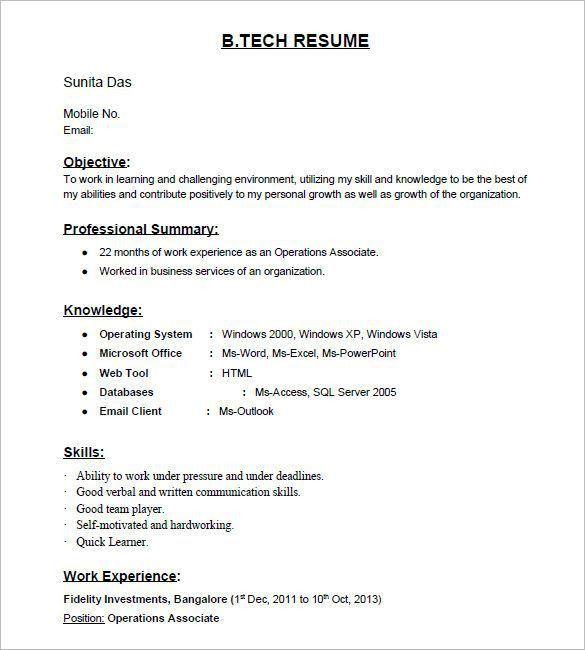 Best 25+ Resume format for freshers ideas on Pinterest | Resume ...
