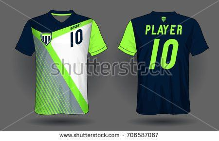 Set Soccer Kit Football Jersey Template Stock Vector 678030157 ...