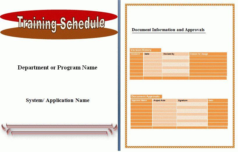 sample training agenda template