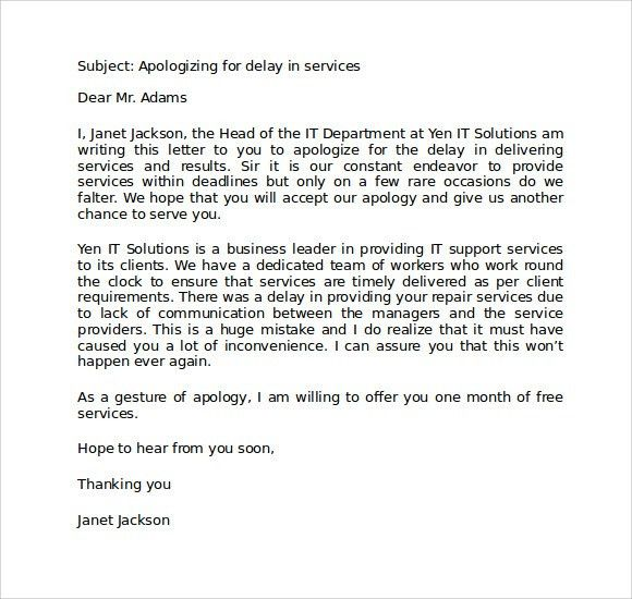 Customer apology letter examples apology letters print paper example of apology letter for poor customer service compudocs ccuart Gallery