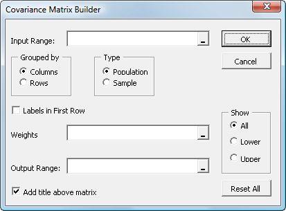 Matrix Example On Excel
