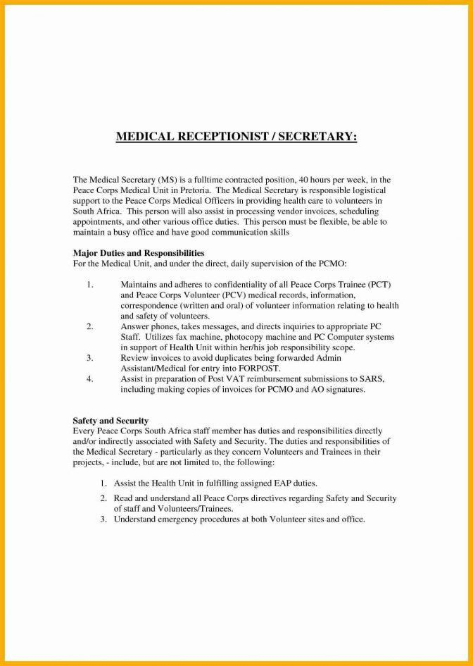 Veterinary Receptionist Cover Letter - CV Resume Ideas