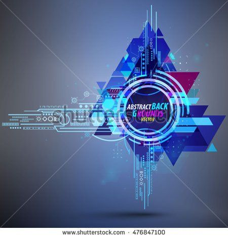 Abstract Background Club Party Flyer Poster Stock Vector 476847100 ...