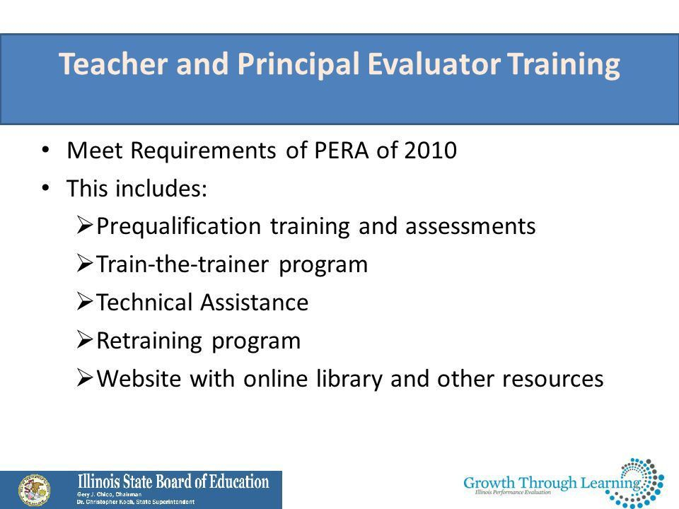 Teacher and Principal Evaluation Training and Assessments Illinois ...
