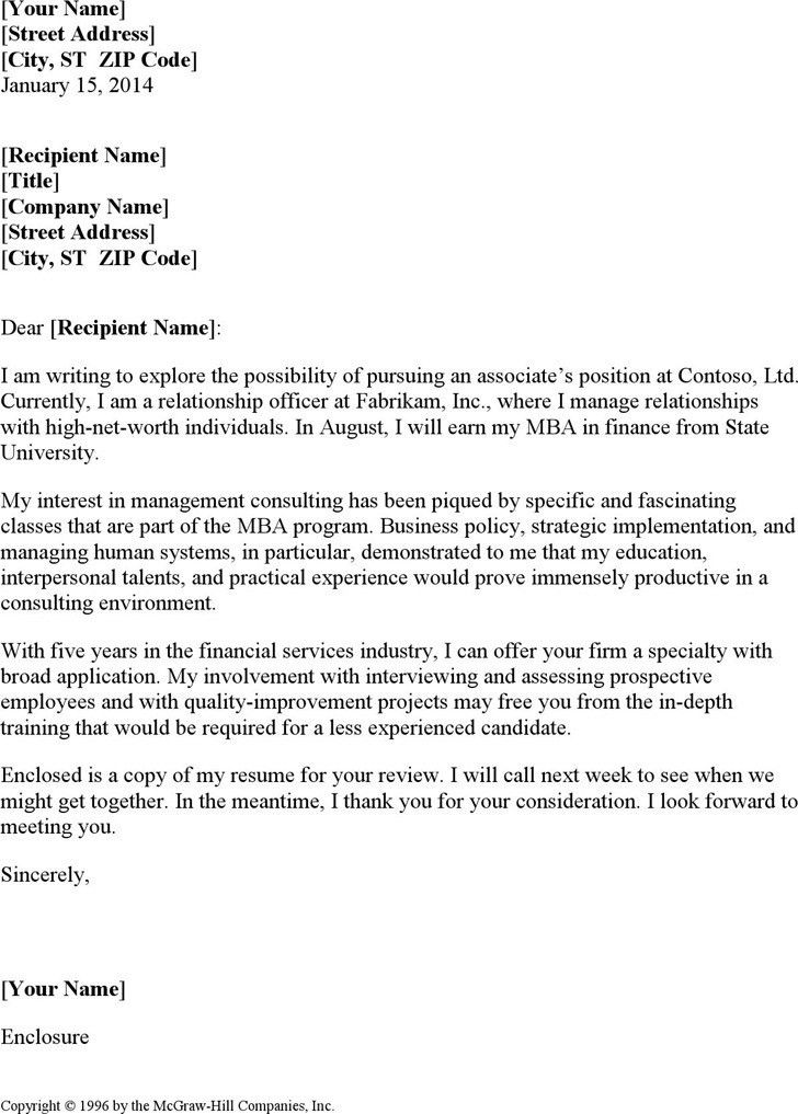 Cover Letter For Bcg Consulting - Cover Letter Templates