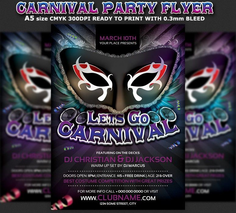 Carnival Party Flyer Template ‹ PsdBucket.com