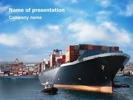Sea Shipping Presentation Template for PowerPoint and Keynote ...