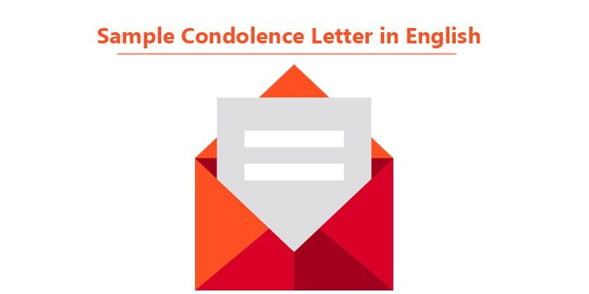 Sample Condolence Letter in English - Sample sympathy letter ...