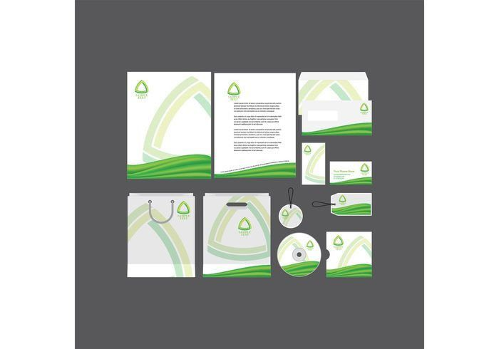 Green Company Profile Template - Download Free Vector Art, Stock ...