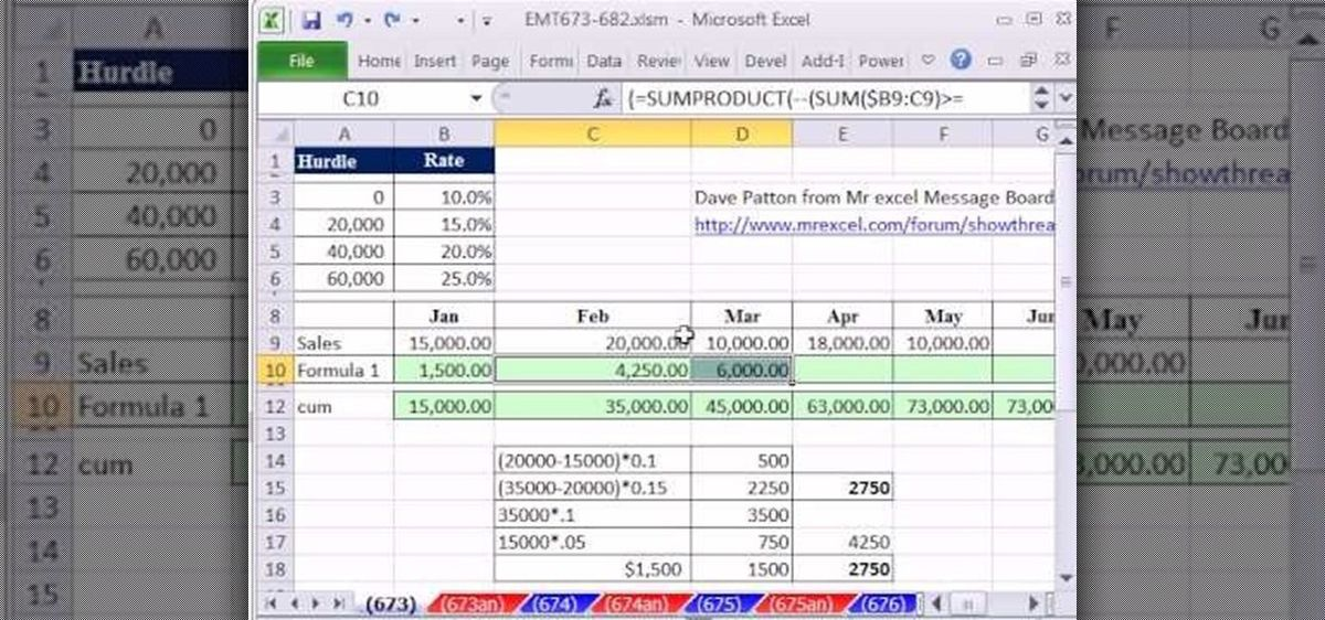 How to Calculate Commission Based on Varying Rates in Excel ...