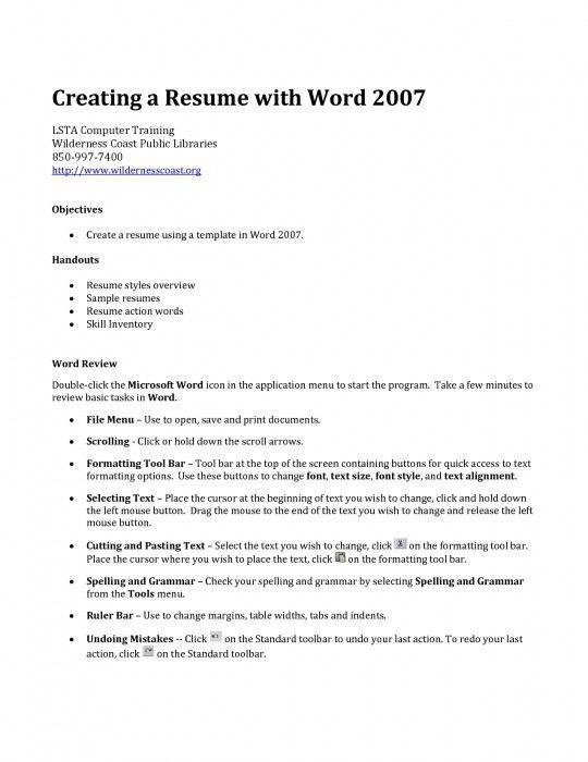 The Stylish Creating A Job Resume   Resume Format Web