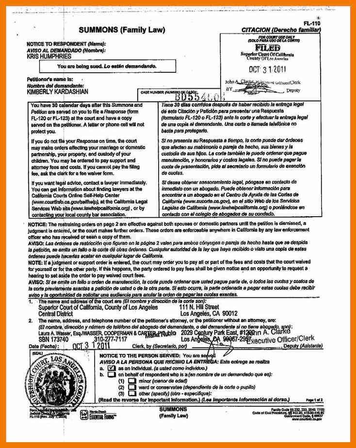 Divorce Notice Format, printable sample divorce papers form ...