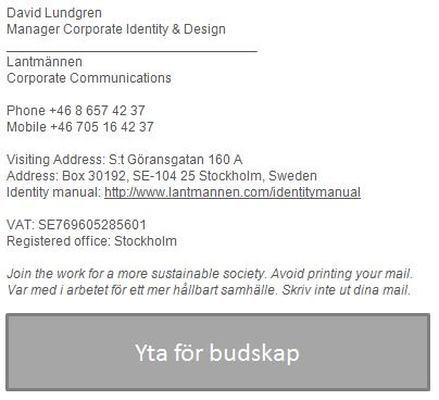 Email signatures | Lantmännen Designmanual