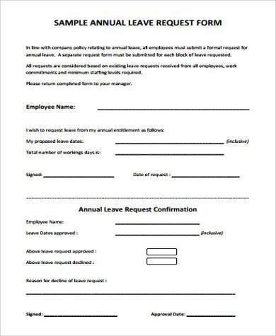 Holiday Leave Form Template [Template.billybullock.us ]