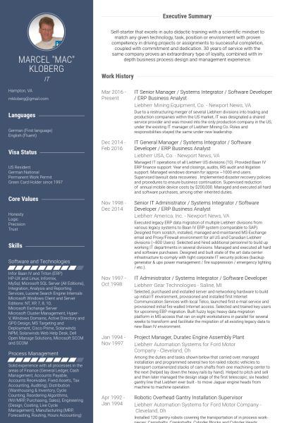 Business Analyst Resume samples - VisualCV resume samples database