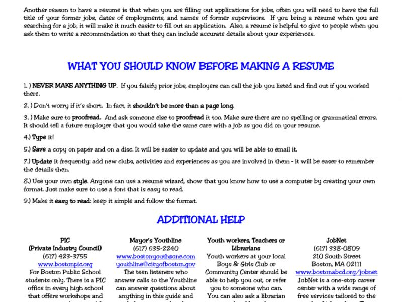 sample teenage resume resume cv cover letter. free resume ...