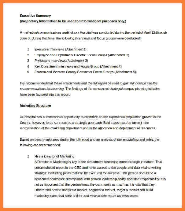 Exec Summary Template 30 Perfect Executive Summary Examples – Executive Summary Report Template