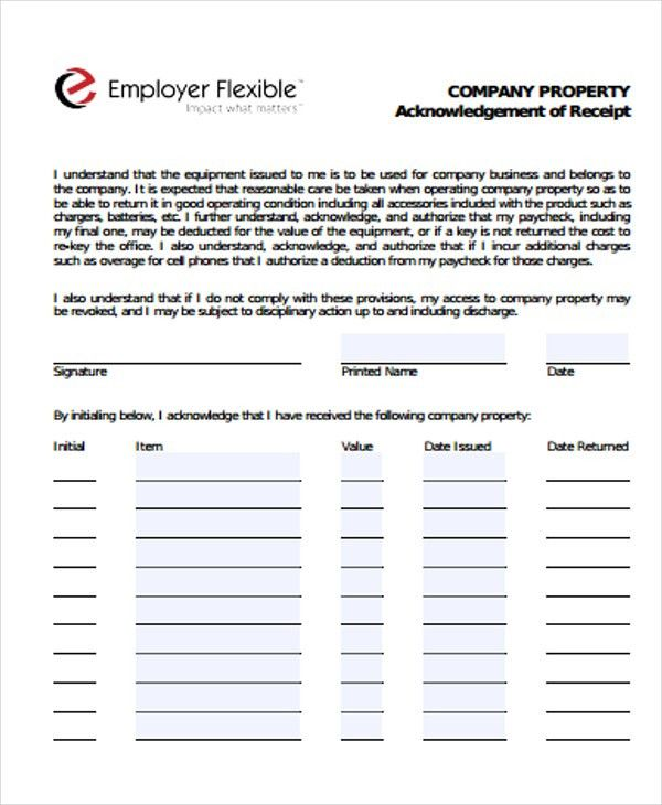 7+ Company Receipt Templates - Free Sample, Example Format ...