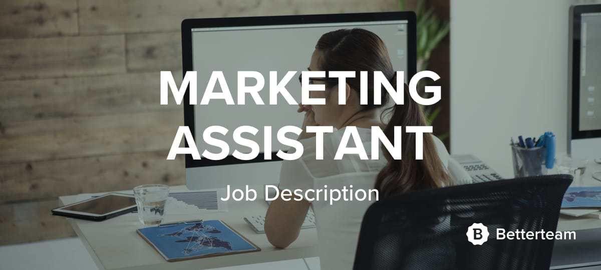 marketing assistant job description sample 3. resume objective ...