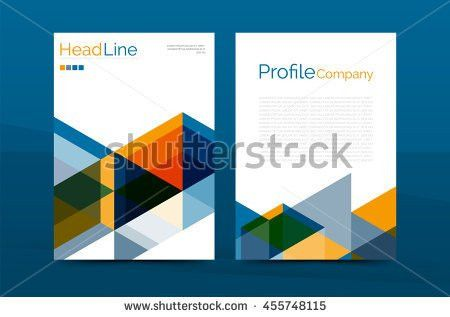 Vector Layout Brochure Flyer Design Template Stock Vector ...