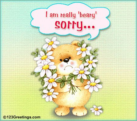 I'm 'Beary' Sorry! Free Sorry eCards, Greeting Cards | 123 Greetings