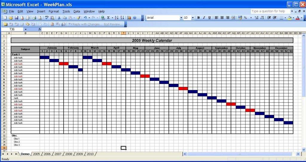 Calendar Template In Excel » Calendar Template 2017