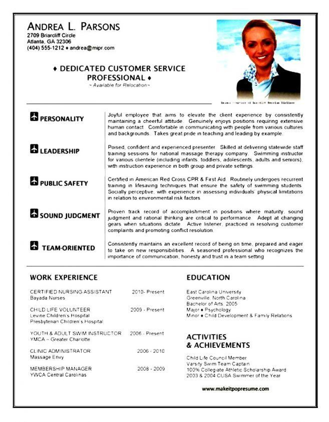 11 Entry Level Flight Attendant Resume Resume flight attendant ...