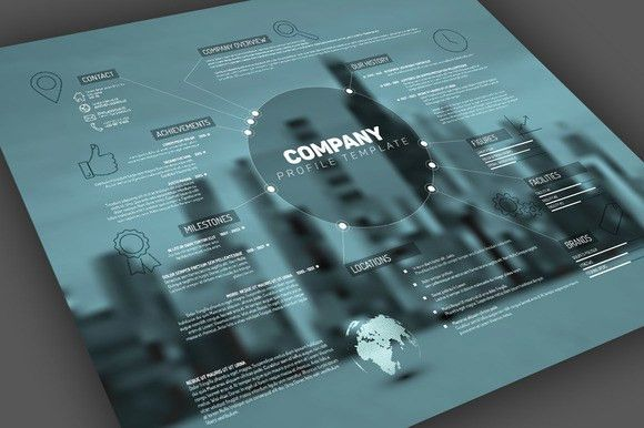 Vector Company Profile Template by Orson on Creative Market | My ...