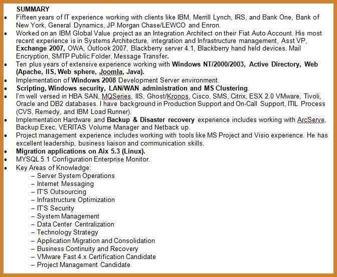 Resume Summary Example. Resume Summary Example Career Writing A ...