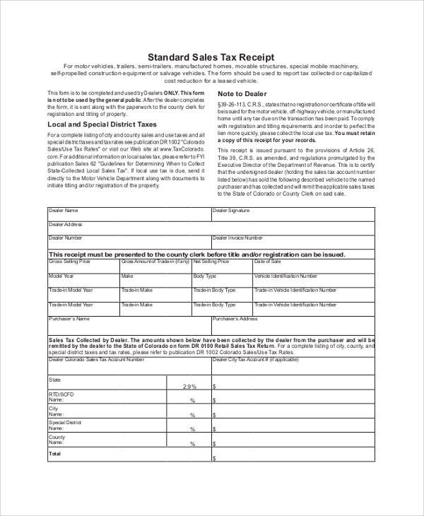 Sample Sales Receipt - 8+ Examples in PDF, Word
