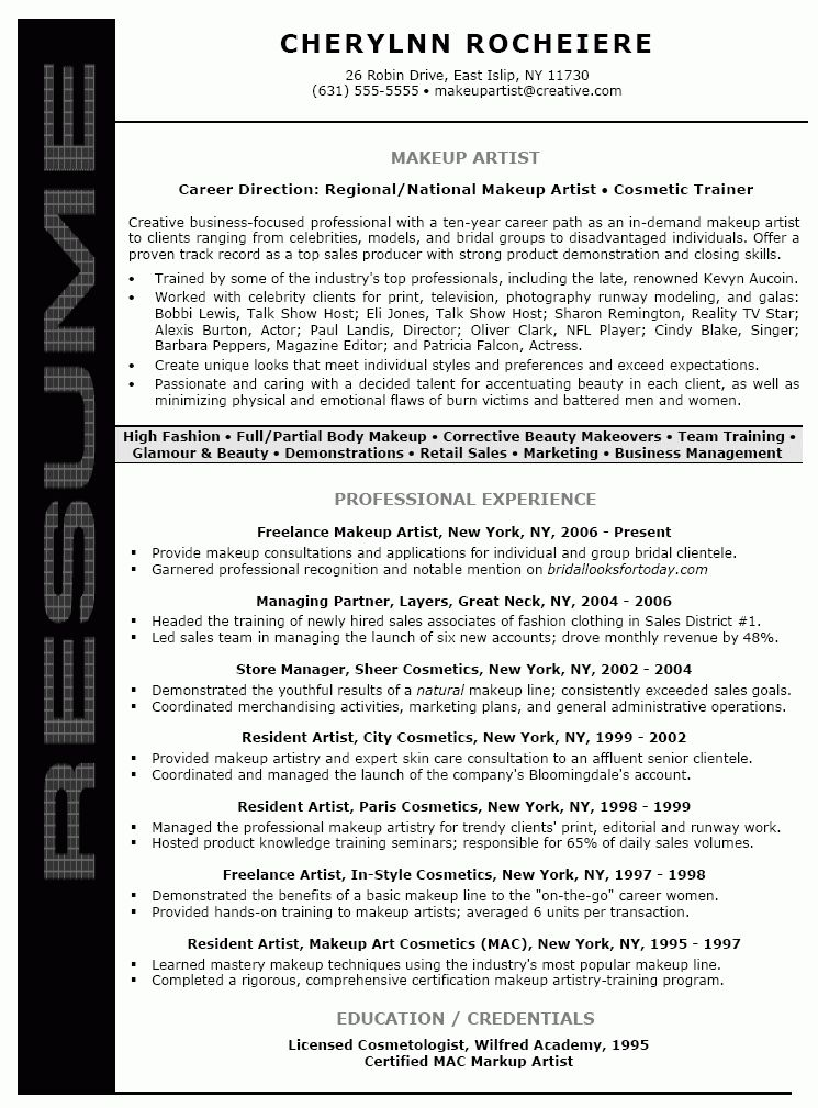 resume for artist artist resume sample writing guide resume