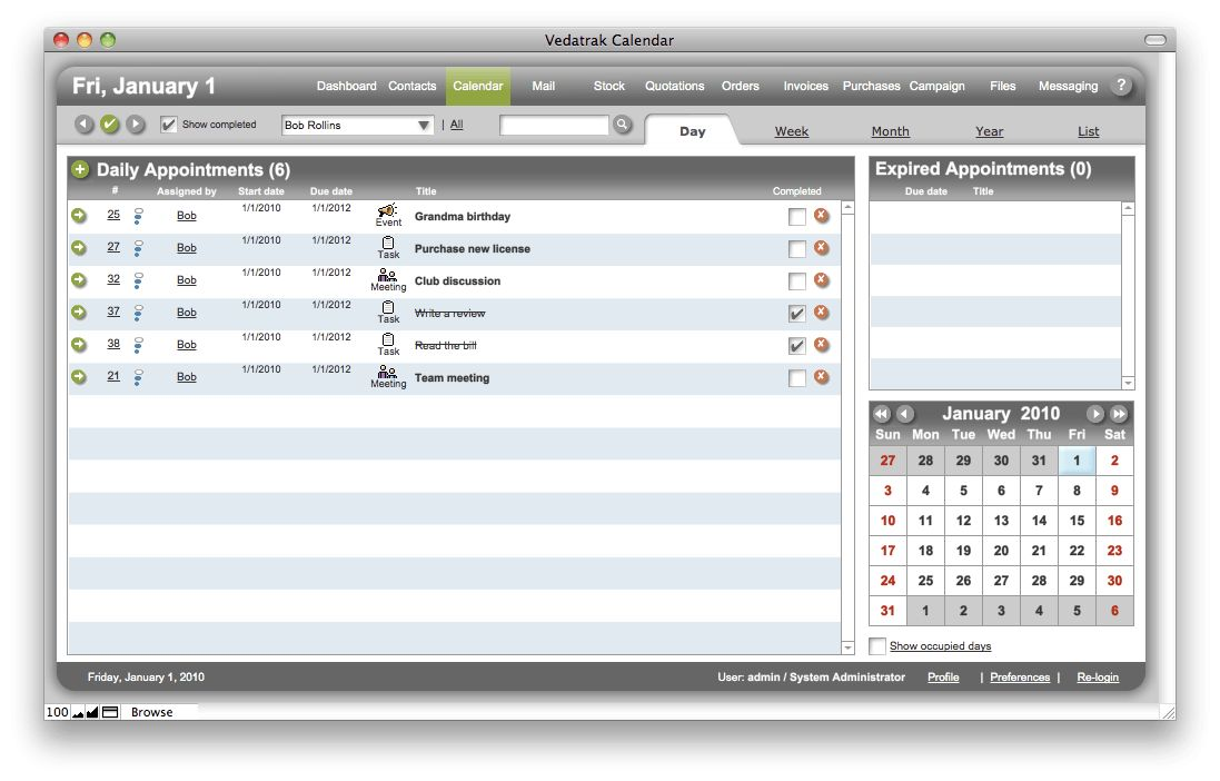Vedatrak CRM solution for FileMaker Pro. Customer database ...
