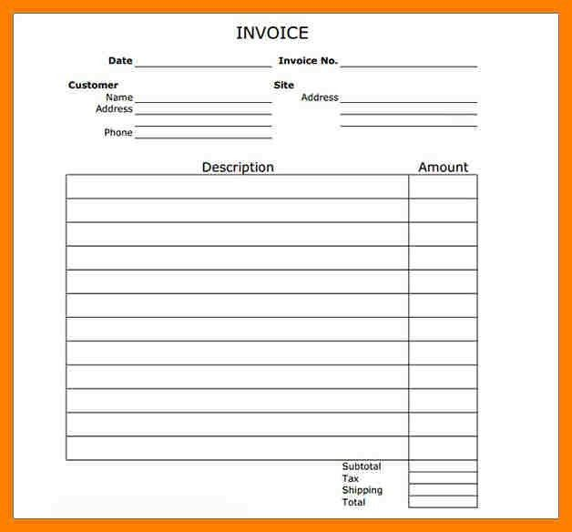 6+ free printable invoice template uk | packaging clerks