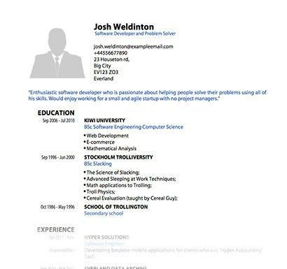 Blank Job Resume Curriculum Vitae Samples Pdf Template 2016 ...