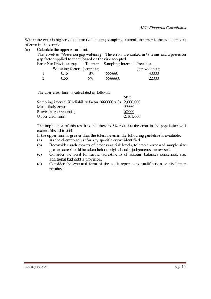 Sample Separation Agreement. Sako Mayrick, 2008 Page 13; 14 Audit ...