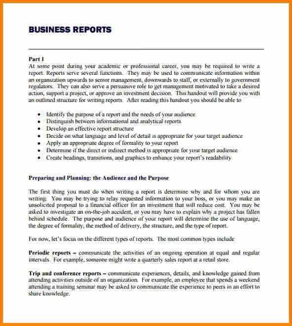 8+ example of business report format | employee-timesheet