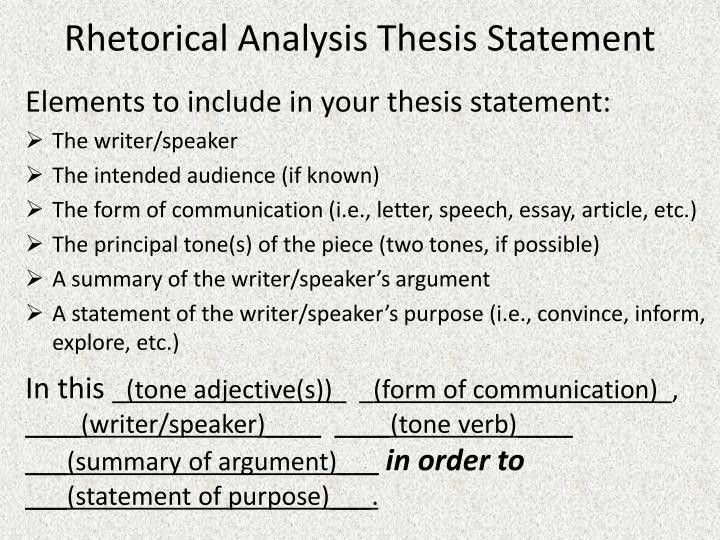 Rhetorical Precis Template. Ap Language-- Rhetorical Devices A-D ...