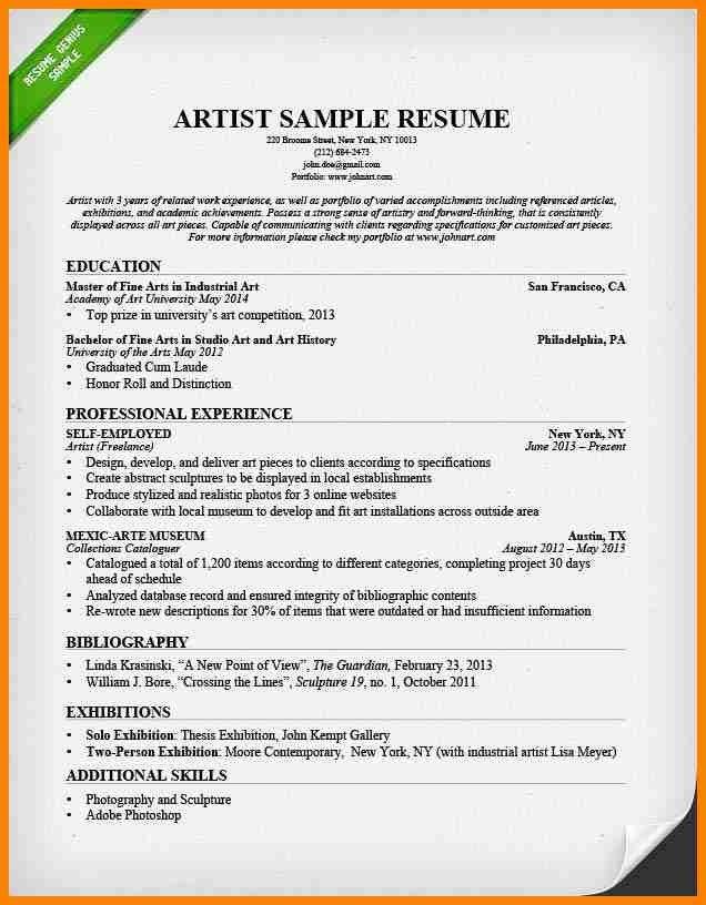 7+ concept artist resume example | resume language