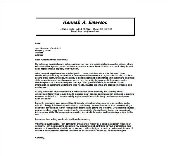 7+ Medical Cover Letter Templates – Free Sample, Example, Format ...