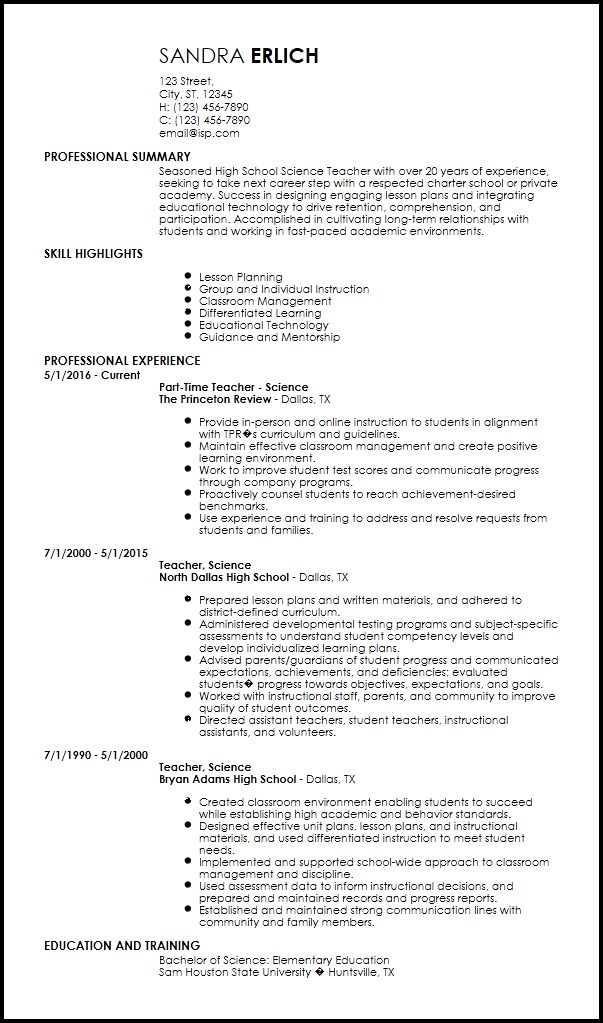 Free Creative Teacher Resume Templates | ResumeNow