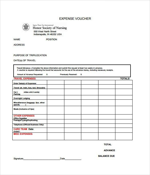 Sample Expense Voucher Template - 7+ Free Documents in PDF