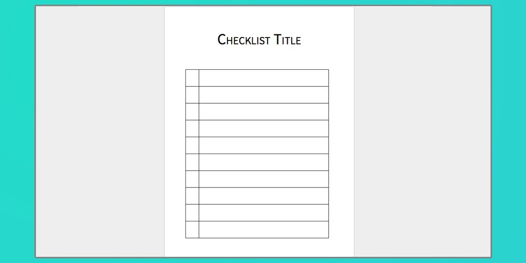 Download Your Free Microsoft Word Checklist Template | Process Street