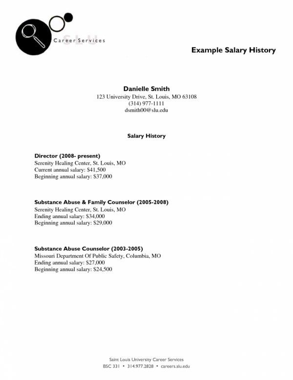 salary history in cover letter samples