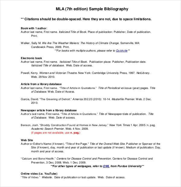 10+ MLA Annotated Bibliography Templates – Free Sample, Example ...