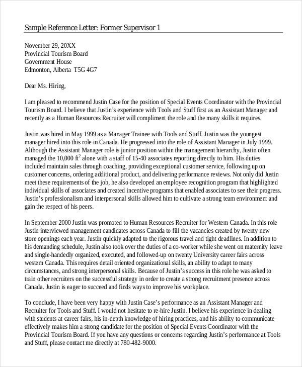 6+ College Reference Letter Templates - Free Sample, Example ...