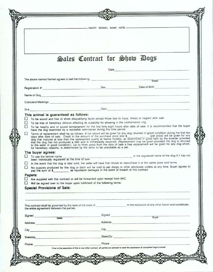 Sales Contract form | Sample Contracts | Pinterest