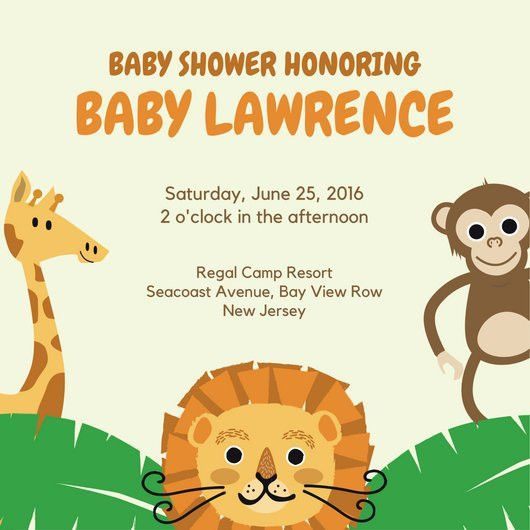 Baby Shower Invitation Templates - Canva
