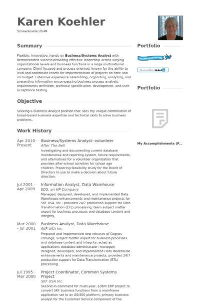 Systems Analyst Resume samples - VisualCV resume samples database
